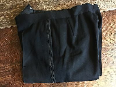 Vintage Mens 1960's Barathea Dinner Trousers Size 30 X 32 Long
