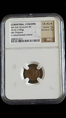Greek Coin Corinthia, Corinth, NGC CH AU 5/5 5/5 Star