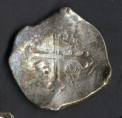Stunning Pirate cob & spanish colonial * Silver 8 Reales * Potosi E 1658 3 dates