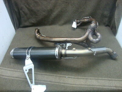 02 Ducati M900 Monster Exhaust, Headers, Carbon Fiber Muffler #ye44