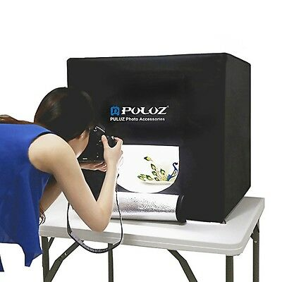 PULUZ 60cm Portable Folding White Light Photo Studio Tent Box Kit Lighting Shoot