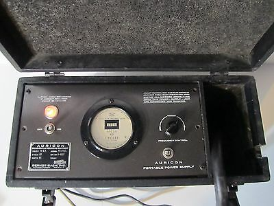AURICON 16mm ps-21 al Portable Power Supply vtg Cine Film Production 115ac 60w