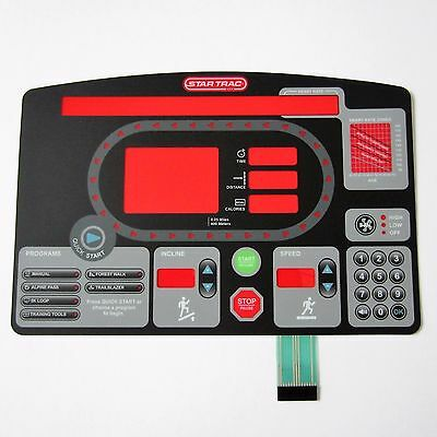 Star Trac Pro 7600 Treadmill Replacement Overlay/Keypad