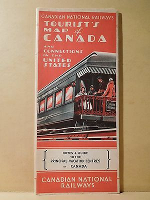 Map Canadian National Railways Tourist's Map of Canada 1935 March 1930 map?