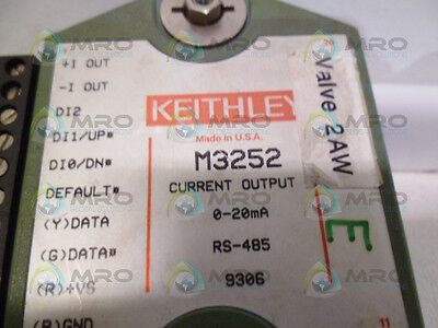 Keithley M3252 Current Output Module *used*