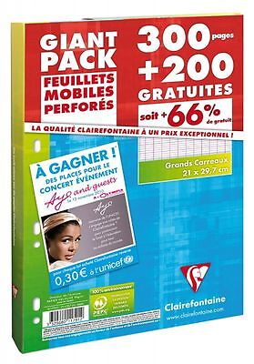 Clairefontaine - Etui feuillets mobiles perf. 300 pages + 200 gratuites - NEUF