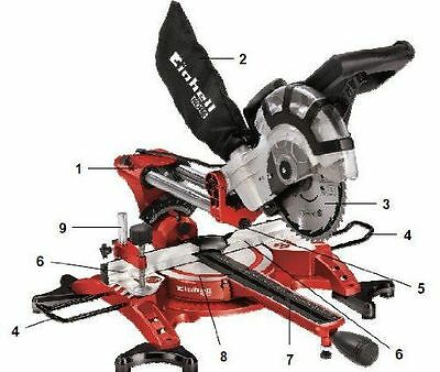 Einhell - Scie à onglet radiale - TH-SM 2131 Dual - [ ] [4300835] [Rouge] NEUF