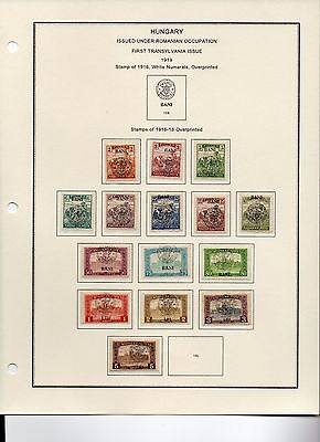 HUNGARY, First Romanian Occupation of Transylvania, 25 diff. unused