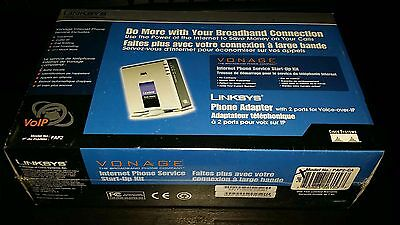 Linksys Phone Adapter Vonage with 2 ports for Voice-over-IP NEW *SEALED