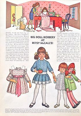 Betsy McCall Mag. Paper Doll, Big Doll Robbery at Betsy McCall's!, Nov. 1972