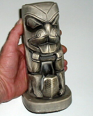 Pacific Northwest Totem Rare Early Tourist Chalkware Totem