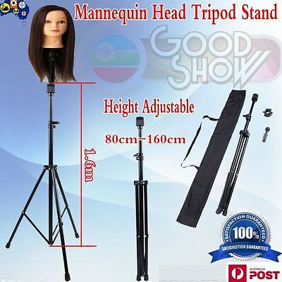 Tripod Adjustable Stand Hairdressing Mannequin Training Practice Head Holder ZZ