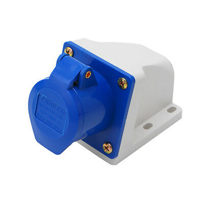 Waterproof 2P+E Industrial Plug Socket AC 220-240V 16A Amp IP67 3-Pin
