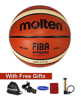 Molten GM7X & GM6X Composite Leather Basketball --- With FREE GIFTS!!!