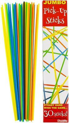 New 30 pcs Jumbo Pick Up Plastic Sticks Neon Colorful Kid Play Fun Game Toy
