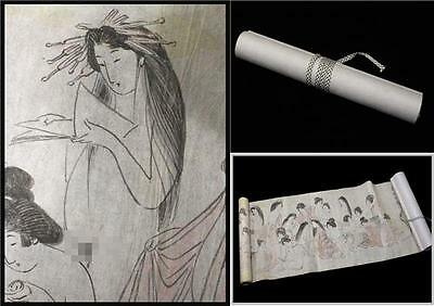 #0 JAPANESE Antique original drawing Emakimono ( picture scroll ) Caricature