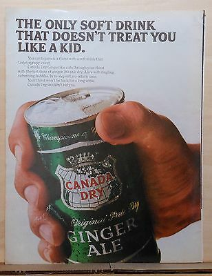 1966 magazine ad for Canada Dry Ginger Ale - Doesn't Treat You Like A Kid