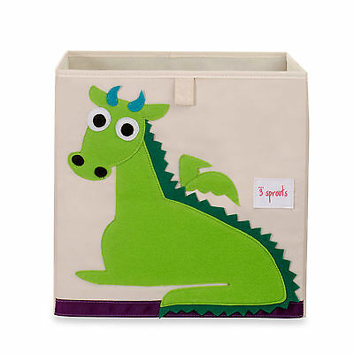 3 Sprouts Storage Box Dragon Organizer Nursery Decor Imported Adorable NEW