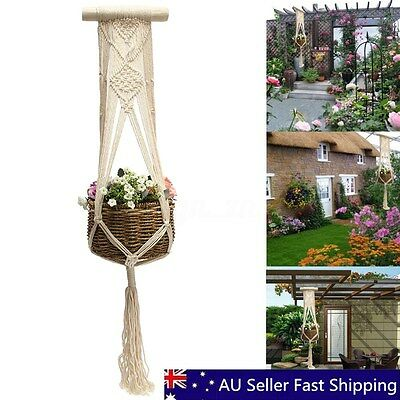 40'' Vintage Macrame Plant Hanger Flower Pot Holder String Hanging Rope Wall Art