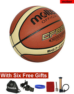 Molten BG7 Size 7 Composite Leather Basketball --- With SIX FREE GIFTS
