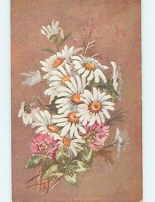 Pre-Linen BEAUTIFUL DAISY AND CLOVER FLOWERS HL5833