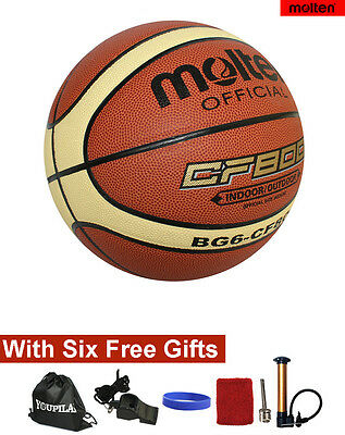 Women's official Size 6 Molten BG6 Composite Leather Basketball--With FREE GIFTS