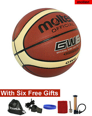 Women's official Size 6 Molten GW6 Composite Leather Basketball--With FREE GIFTS