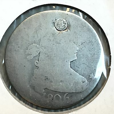 1806 25C Draped Bust Quarter: Holed and Plugged