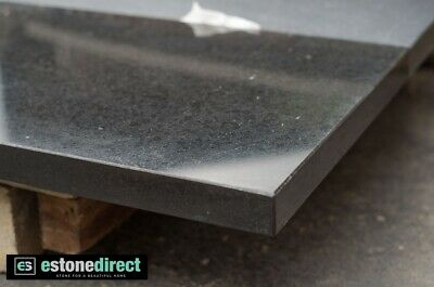 Fireplace Hearth Black Polished Granite 1500x400x40mm - Bbq tops, Vanity