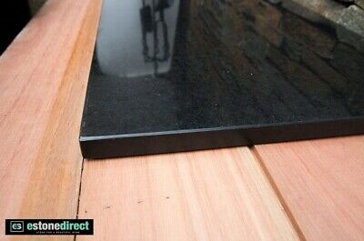 Granite Hearth - Black Polished 1800x500x20mm
