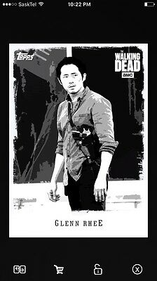 Topps Walking Dead Card Trader Illustrated Black And White Glen OE Special