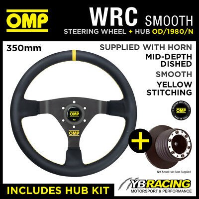 FIAT NEW PANDA 05- OMP WRC 350mm SMOOTH LEATHER STEERING WHEEL & HUB KIT!