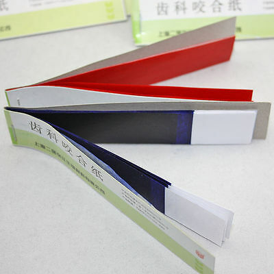 Practical Dental Articulating Paper Red Thin Strips Red/ Blue 10 sheets *20 book