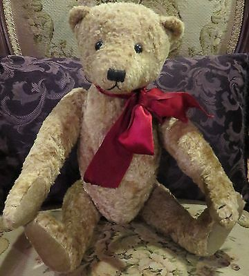 """Vintage 17"""" Artist Teddy Bear, Reproduction Antique Teddy,  Great Jointed"""