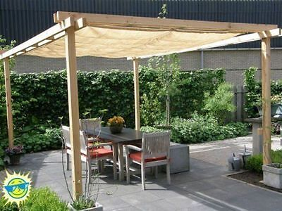 Shatex 90% Wheat New Design Sun Shade Privacy Panel with Grommets Wheat