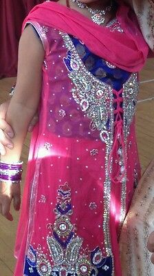 Girls Bollywood indian net lengha choli/ saree for children, approx age 4-6
