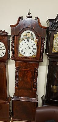 A fine Georgian 8 day longcase Grandfather clock with moonphase