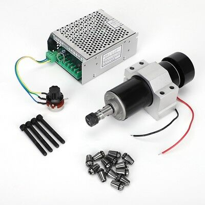 110-220V 500W CNC Air Cooling Spindle Motor + 52mm Holder + Speed Governor ER11