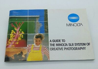 "Vintage ""A Guide To The Minolta SLR System Of Creative Photography"" booklet 72p."