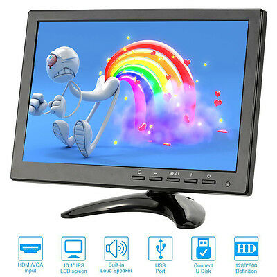 NEW 10.1 inch IPS HD 1080P LCD monitor BNC HDMI VGA Audio Video USB Fit Xbox PS4