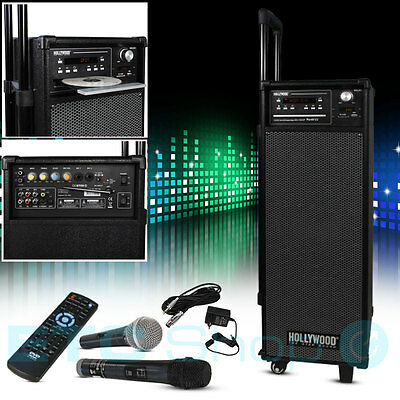 Karaoke Party Sound Anlage 2x Mikrofon USB SD Bluetooth Fernbedienung Radio Box