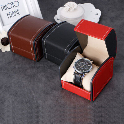 Leather Watch Display Box Present Case For Bracelet Bangle Jewelry Gift Storage
