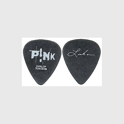 Pink Leah Randi authentic band issued 2004 Try This tour signature Guitar Pick