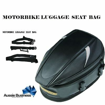 Motorcycle Motorbike Scooter Luggage Seat Bag Tail Pack Expandable Waterproof