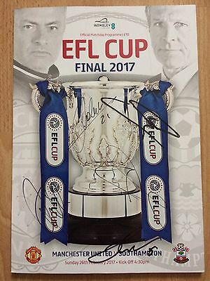 Signed EFL Cup Final Programme. Manchester United v Southampton MINT. See Proof