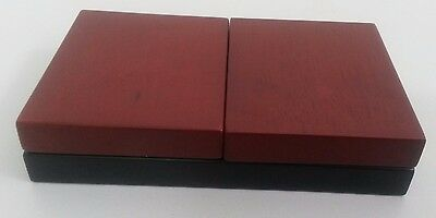 Foldout Wooden look Coin Holder Box to Store/Display Two Coins x 10