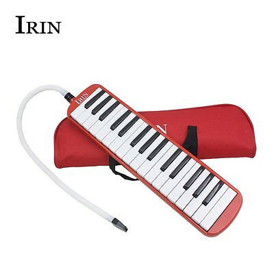 Portable 32 Key Melodica Wind Piano Harmonica With Bag Blow Tube Mouthpiece Gift