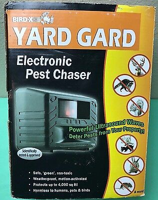 New Yard Gard Ultrasonic Pest Repeller Electronic Squirrels Birds Home Control