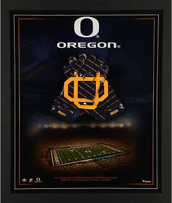 """Oregon Ducks Framed 23"""" x 27"""" Glove Collage with a Pair of Team Item#7266335"""