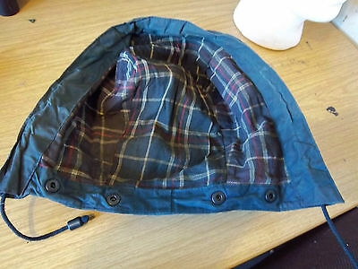Barbour Blue Waxed Hood Size Standard Northumbria Border Bedale Beaufort